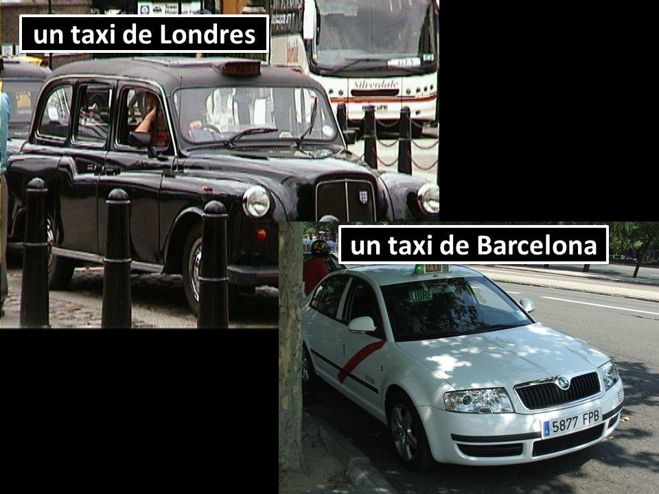 un taxi de Londres un taxi de Barcelona