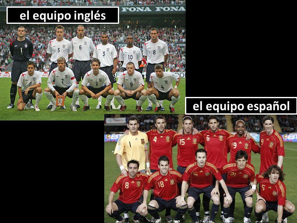 el equipo inglés el equipo español