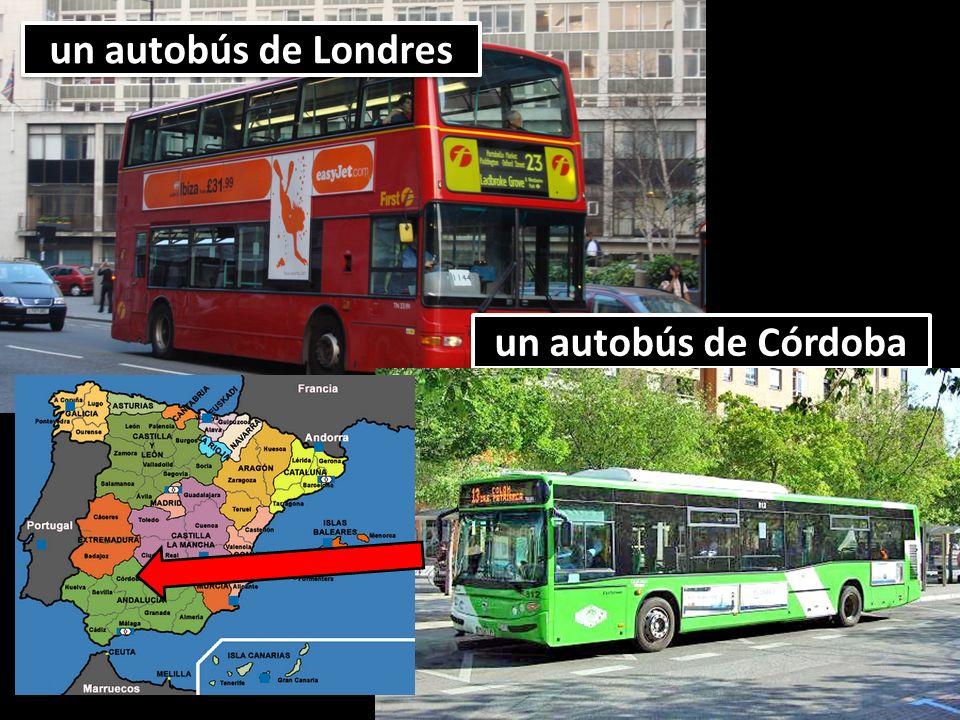 un autobús de Londres un autobús de Córdoba