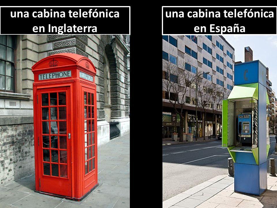 una cabina telefónica en España una cabina telefónica en España una cabina telefónica en Inglaterra una cabina telefónica en Inglaterra