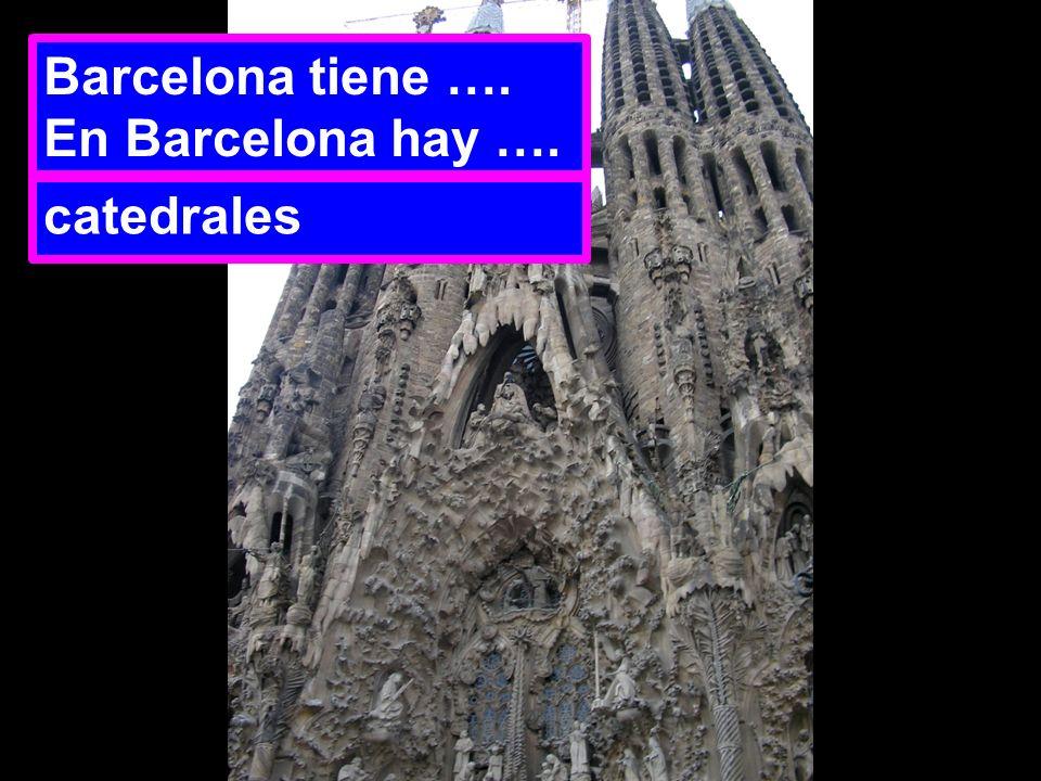 Barcelona tiene …. En Barcelona hay …. catedrales