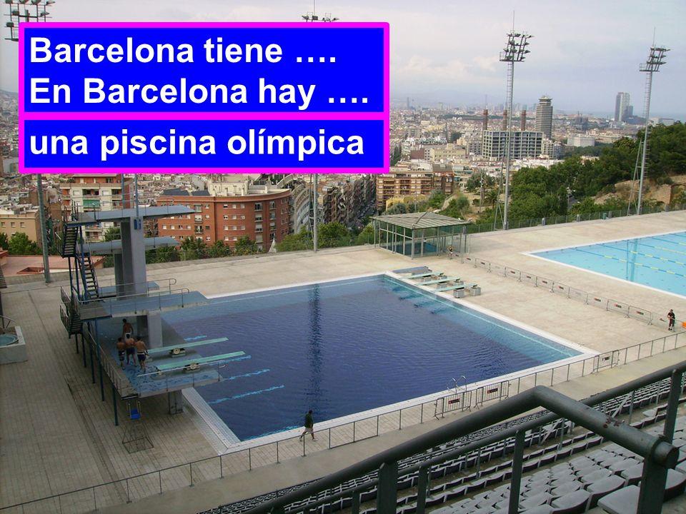 Barcelona tiene …. En Barcelona hay …. una piscina olímpica