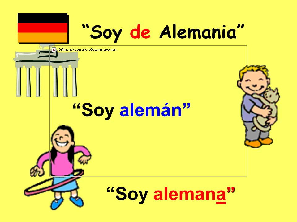 Soy de Alemania Soy alemán Soy alemana