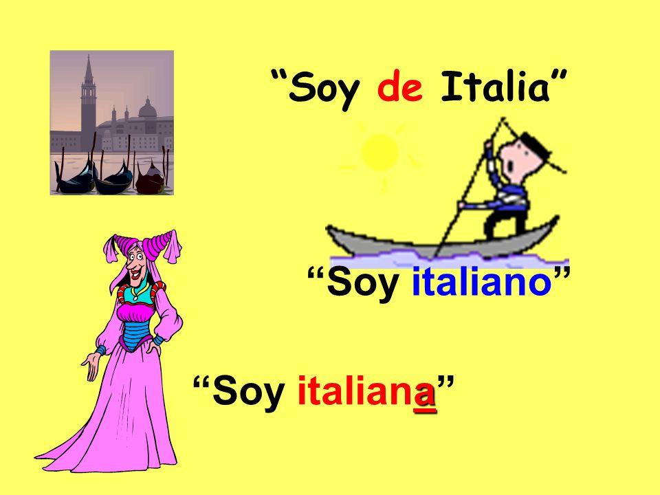 Soy de Italia Soy italiano a Soy italiana