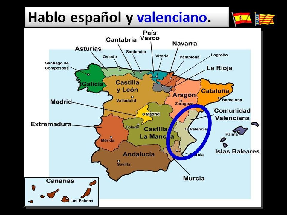 Hablo español y valenciano.