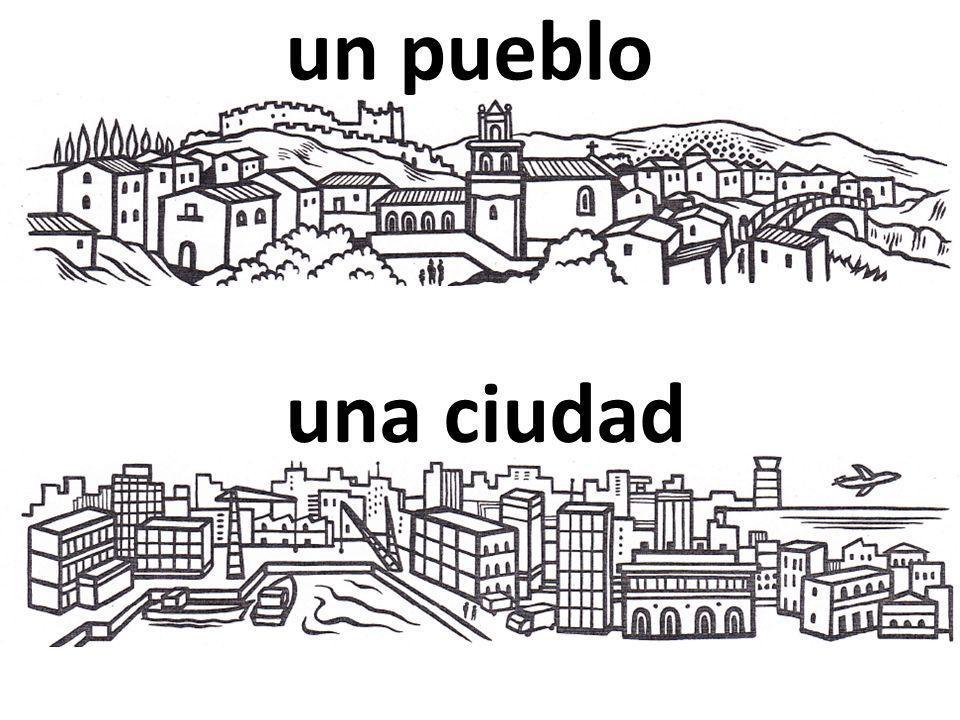 un pueblo una ciudad
