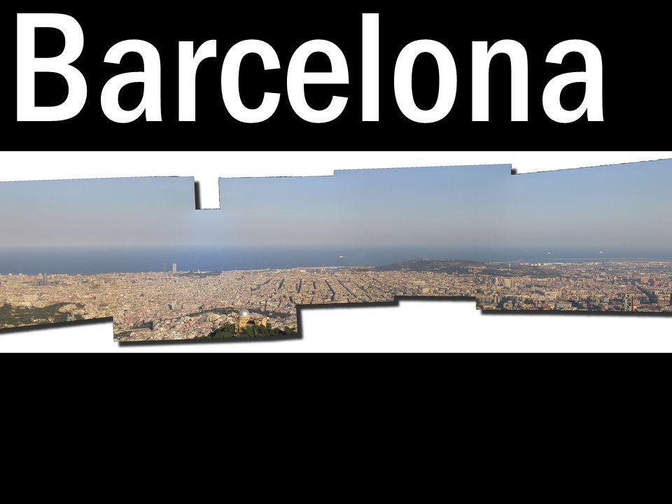 1.Barcelona tiene playas bonitas.2.Barcelona tienas catedrales antiguas.