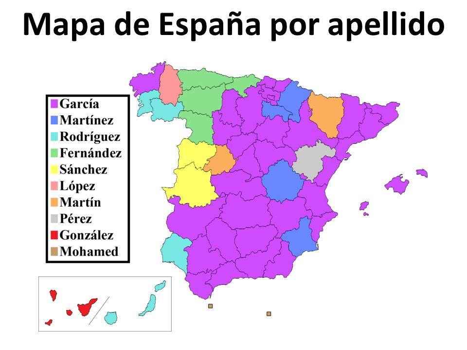 Mapa de España por apellido