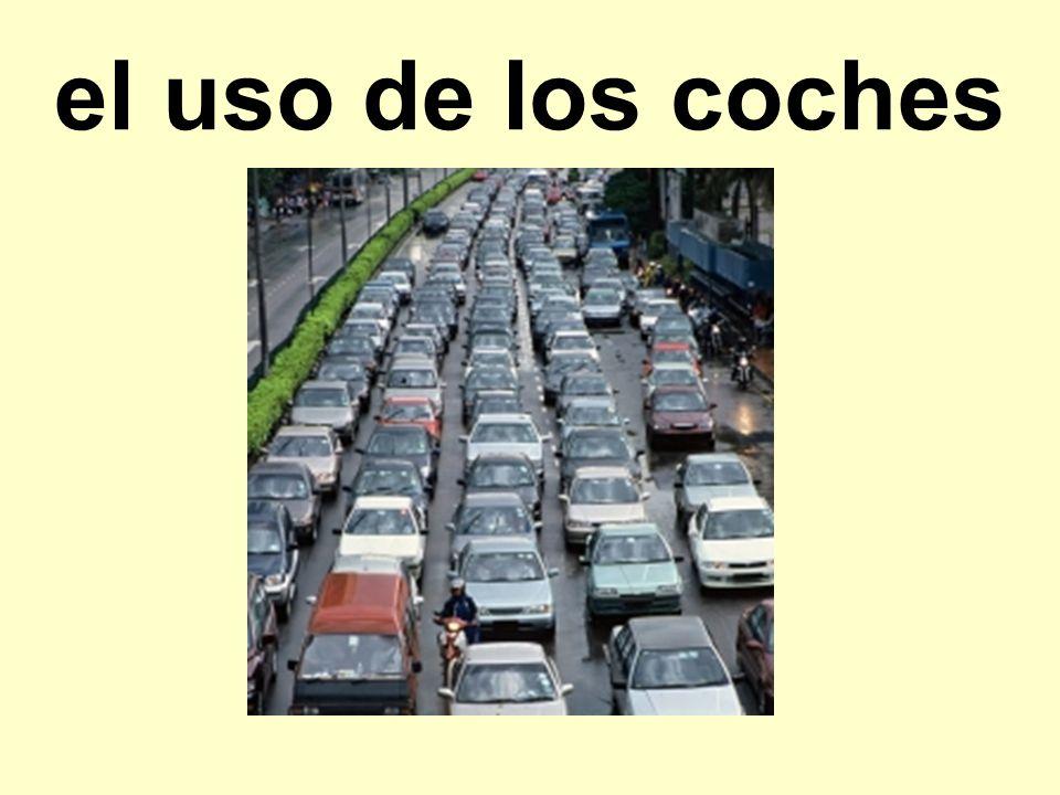 el uso de los coches