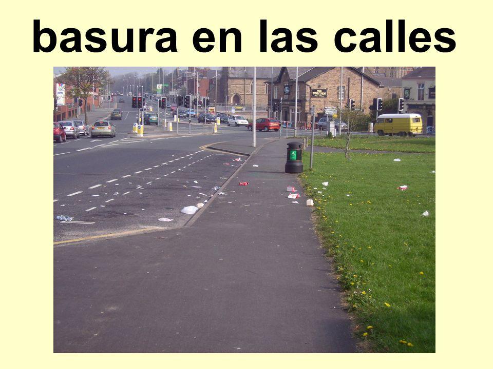 basura en las calles