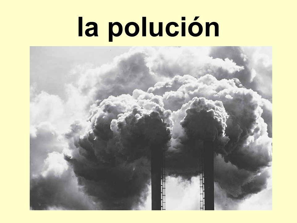 la polución