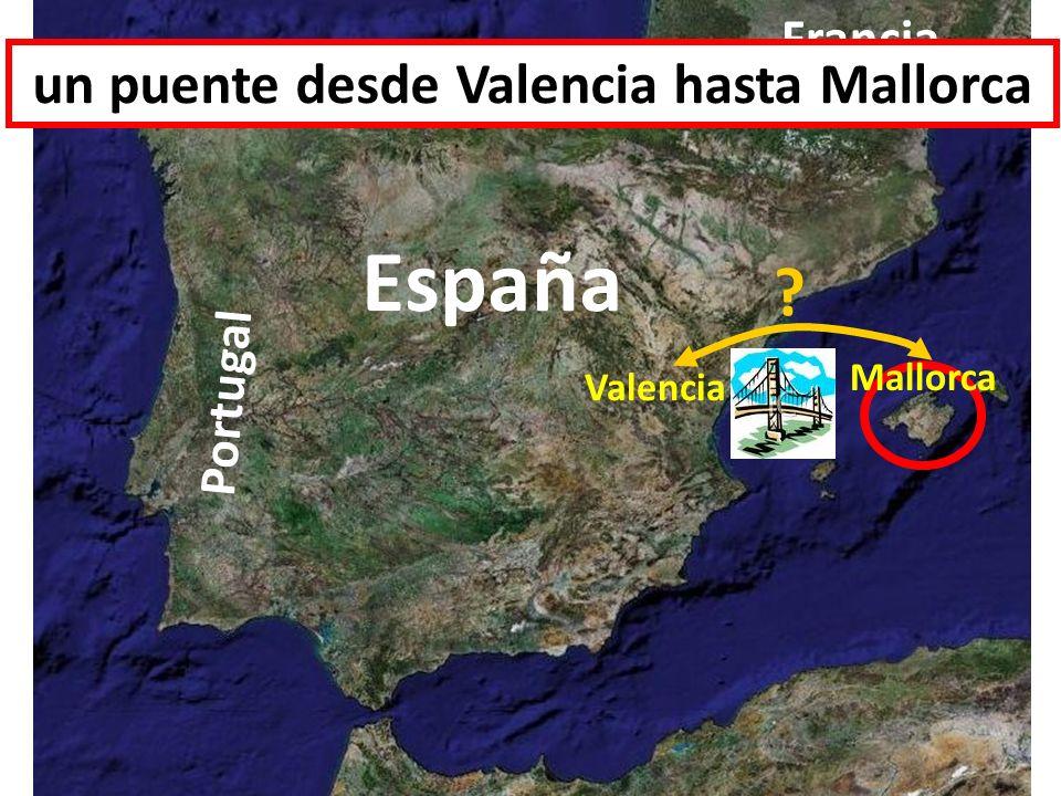 España Portugal Francia Valencia Mallorca ? un puente desde Valencia hasta Mallorca