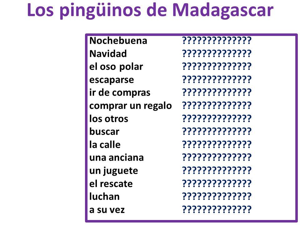 Los pingüinos de Madagascar Nochebuena ?????????????? Navidad ?????????????? el oso polar ?????????????? escaparse ?????????????? ir de compras ??????