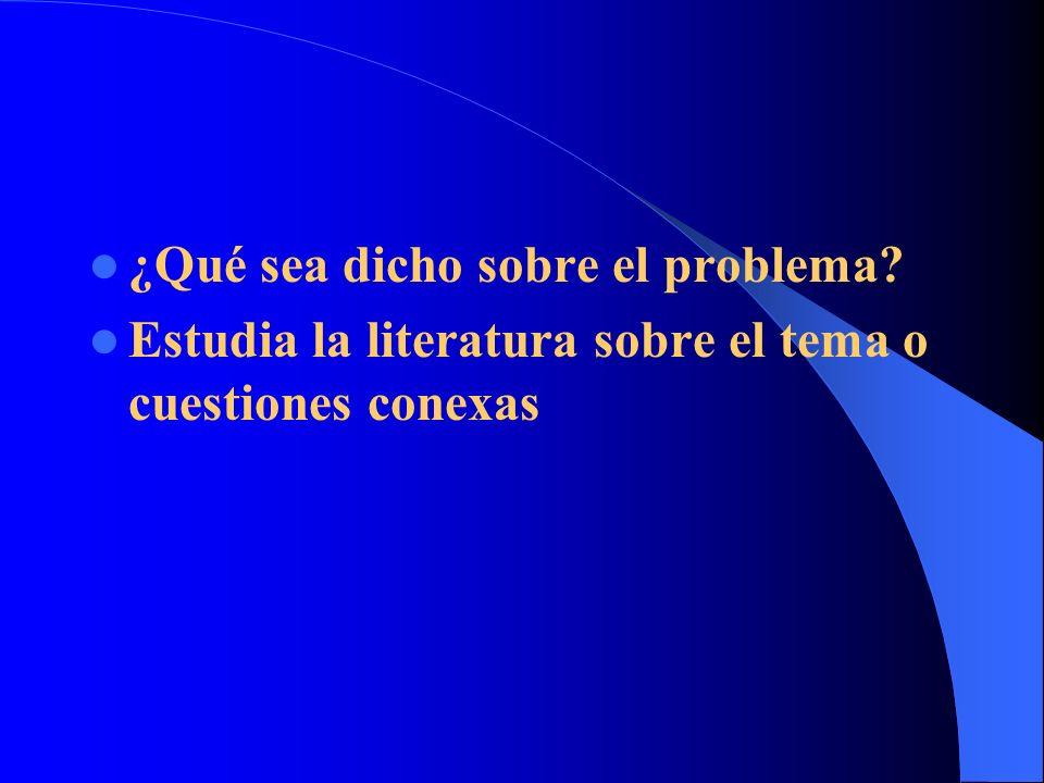 ¿Cuáles son las relaciones entre los diferentes problemas.