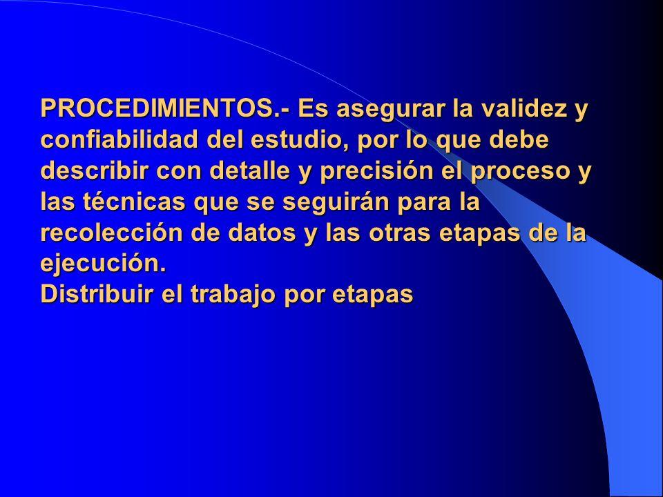 2.11.- LIMITE DE ESPACIO.- Área física o lugar o institución de la investigación.