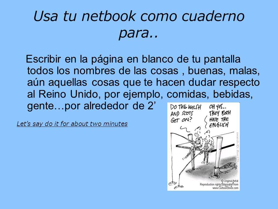 Usa tu netbook como cuaderno para..