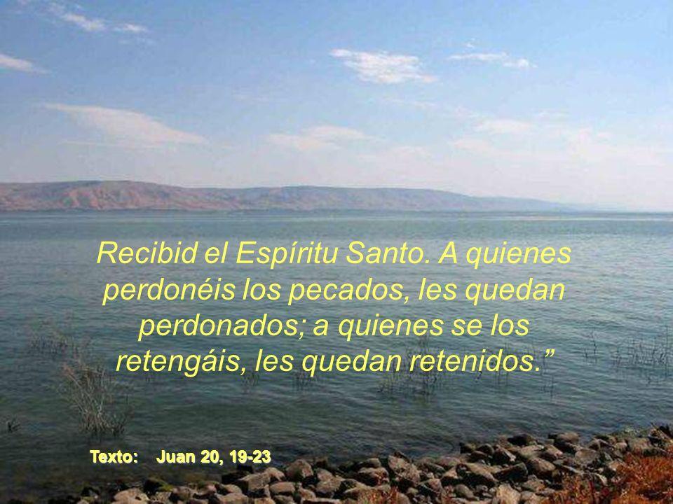 Jesús les dijo otra vez: La paz con vosotros. Como el Padre me envió, también yo os envío. Dicho esto, sopló sobre ellos y les dijo:
