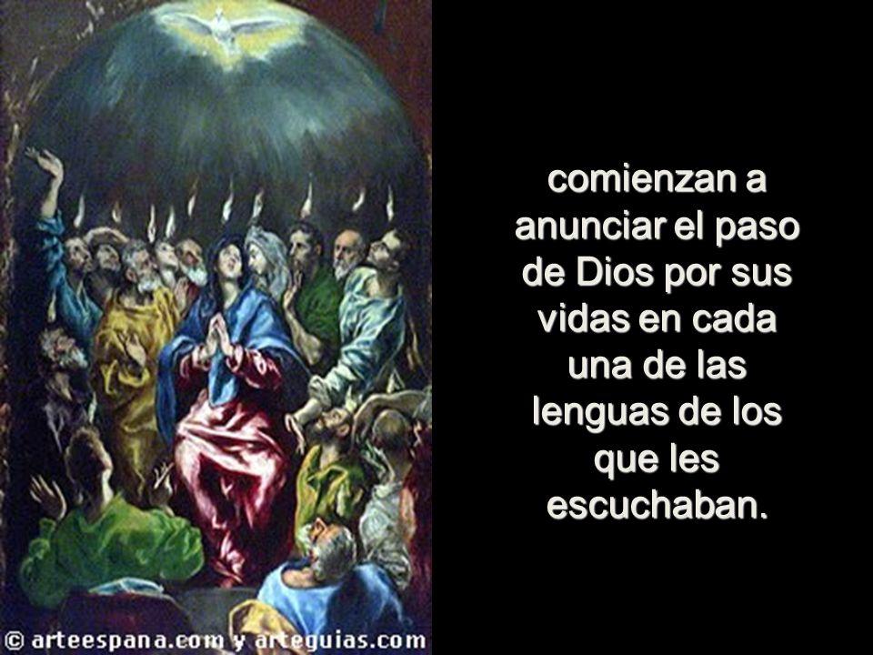 El Espíritu prometido por Jesús, nos hace continuadores de aquella maravilla, cuando hombres asustados y fugitivos pocos días antes,