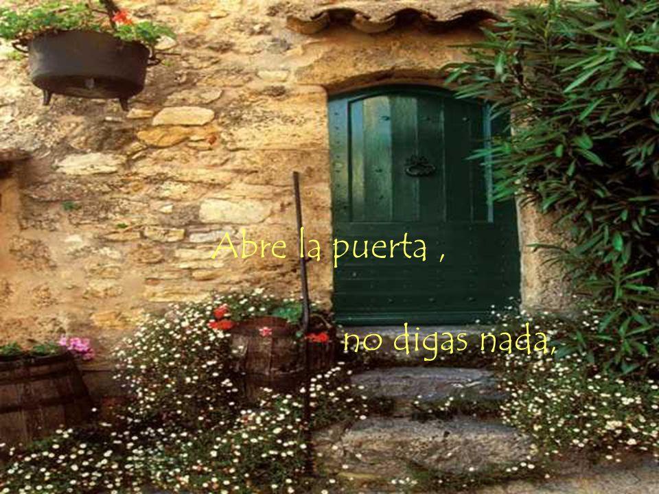 Abre la puerta, no digas nada,