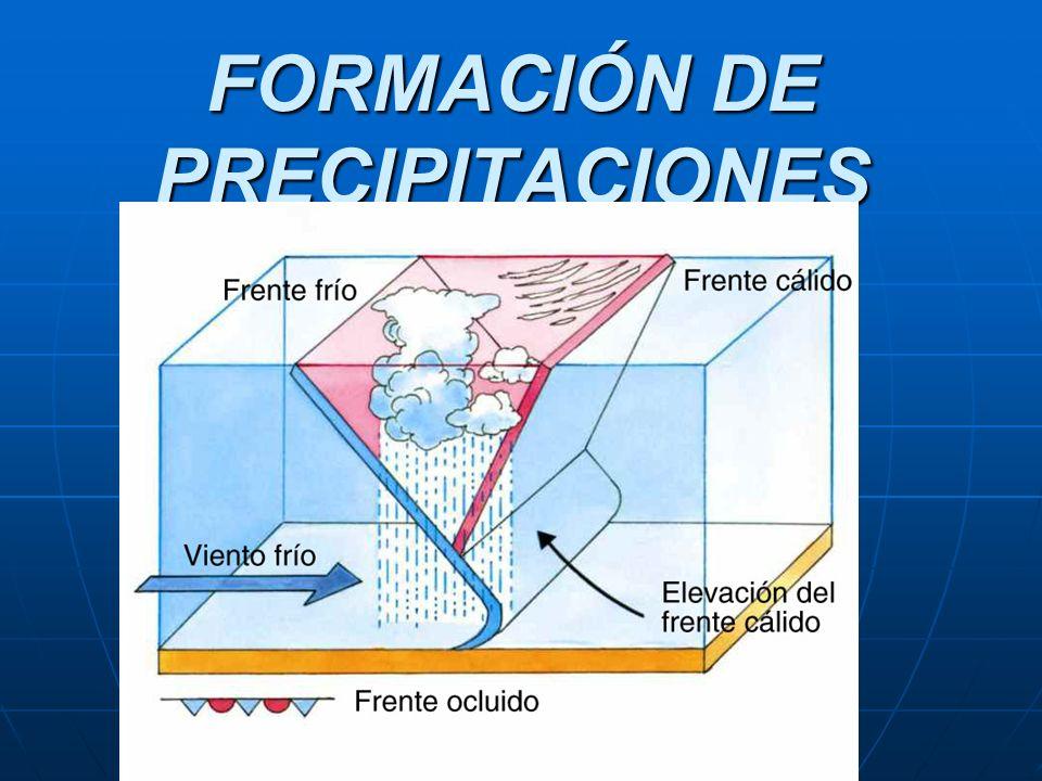 FORMACIÓN DE PRECIPITACIONES Frentes