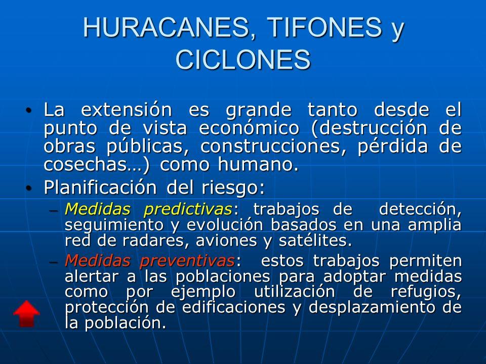 La extensión es grande tanto desde el punto de vista económico (destrucción de obras públicas, construcciones, pérdida de cosechas…) como humano.