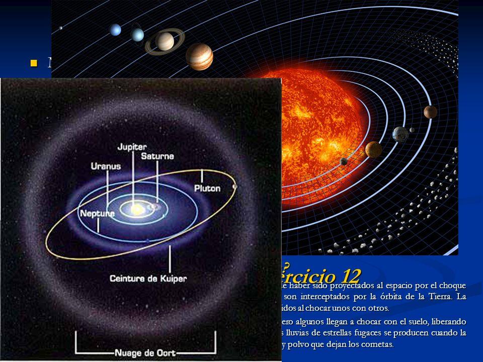 OTROS DATOS INDIRECTOS Meteoritos: Meteoritos: Si un material fue lo suficientemente abundante en nuestro sistema solar como para aparecer en los mete