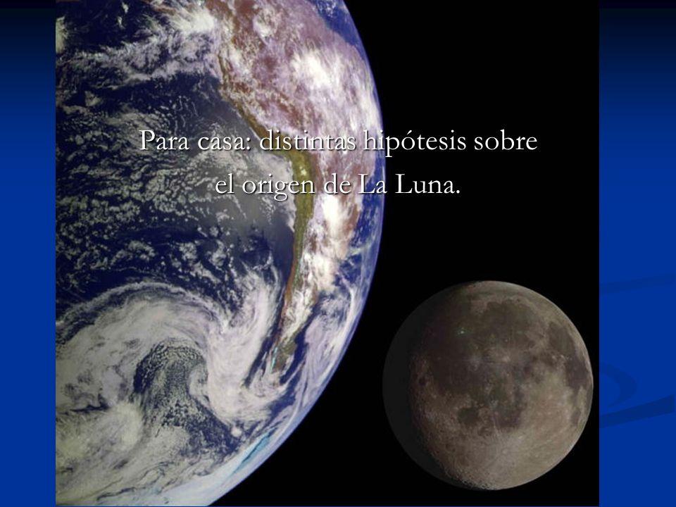 Para casa: distintas hipótesis sobre el origen de La Luna.