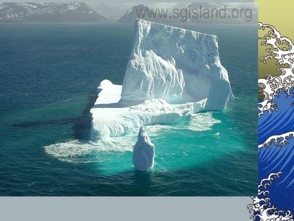 Factores que dificultan el hundimiento: Aporte de agua dulce (disminución de la densidad) por la desembocadura de un río o la fusión de un iceberg. Au