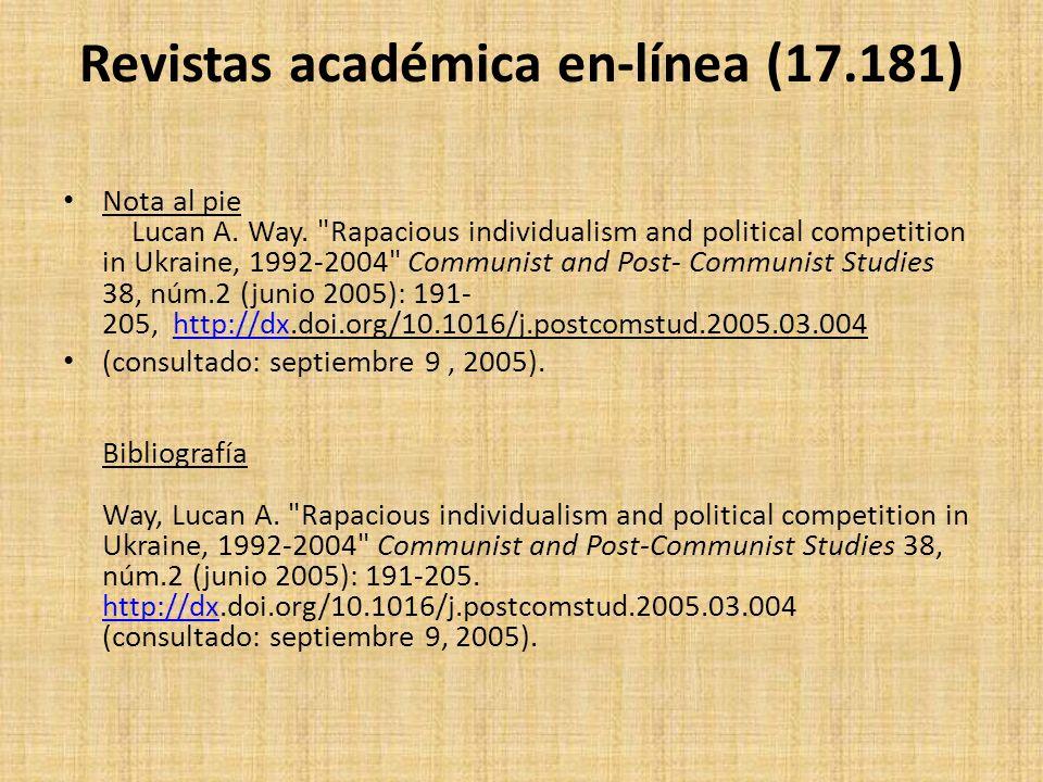 Revistas académica en-línea (17.181) Nota al pie Lucan A. Way.