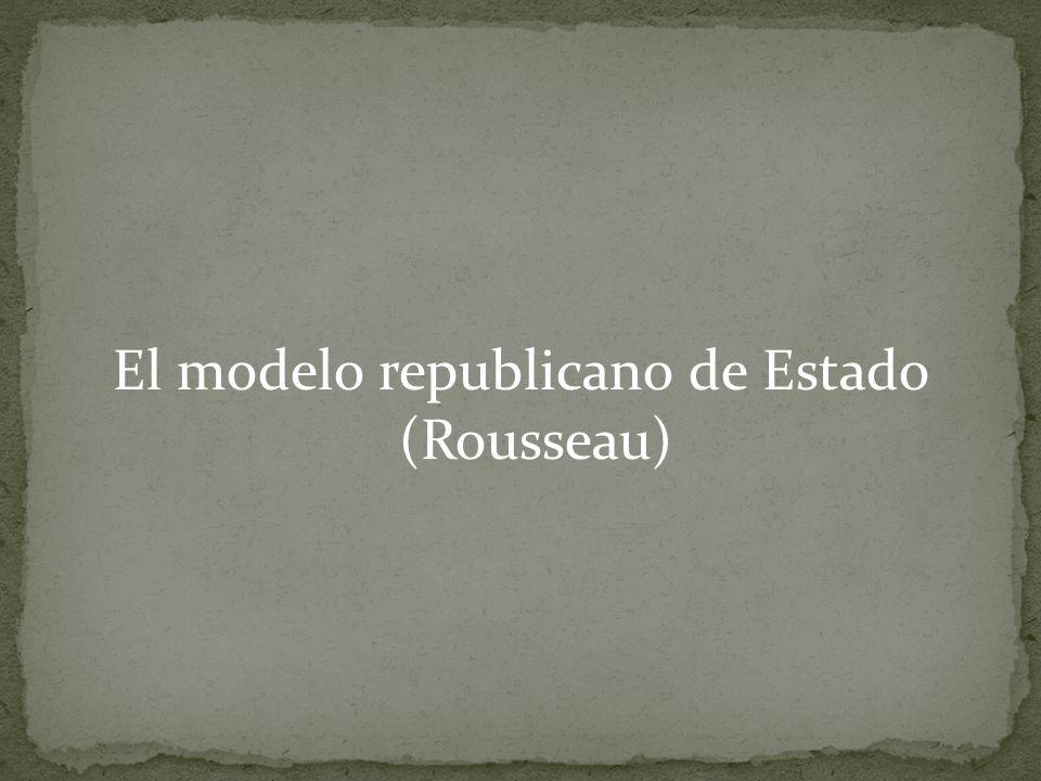 El modelo republicano de Estado (Rousseau)