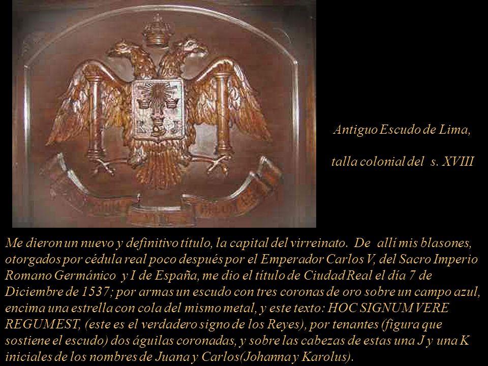 Yo, LIMA, como Ciudad Capital y Metrópoli del Reino y Provincias del Piru, fui fundada el 18 de enero de 1535 por Don Francisco Pizarro y González y n