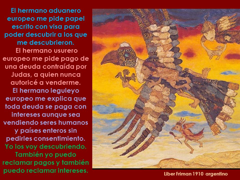 Mario Mollari 1930 Argentino 'Aquí pues yo, Guaicaipuro Cuatemoc he venido a encontrar a los que celebran el encuentro. Aquí pues yo, descendiente de