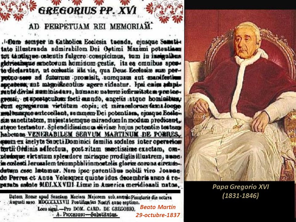 ------------------------------------------ Proceso Después de 18 años de la muerte de Fray Martín, un 8 de noviembre de 1657, fray Salvador de Torres