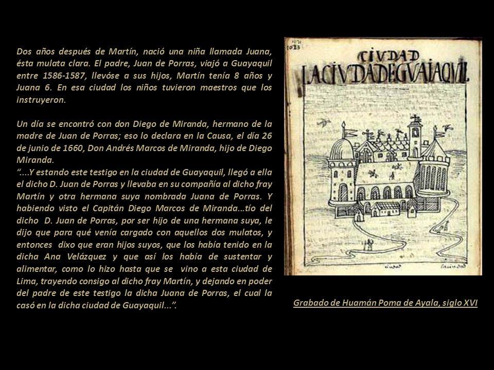 Los primeros biógrafos de Martín fueron fray Bernardo de Medina O.P., autor de Vida prodigiosa del Venerable Siervo de Dios Fray Martín de Porras de l