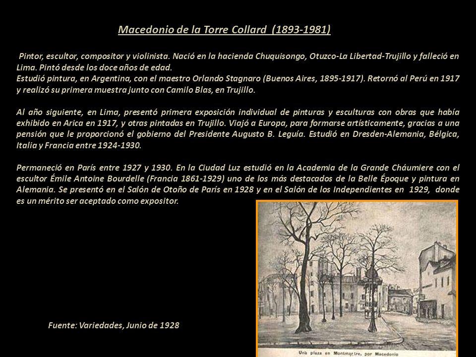 Macedonio de la Torre Collard (1893-1981) Pintor, escultor, compositor y violinista.