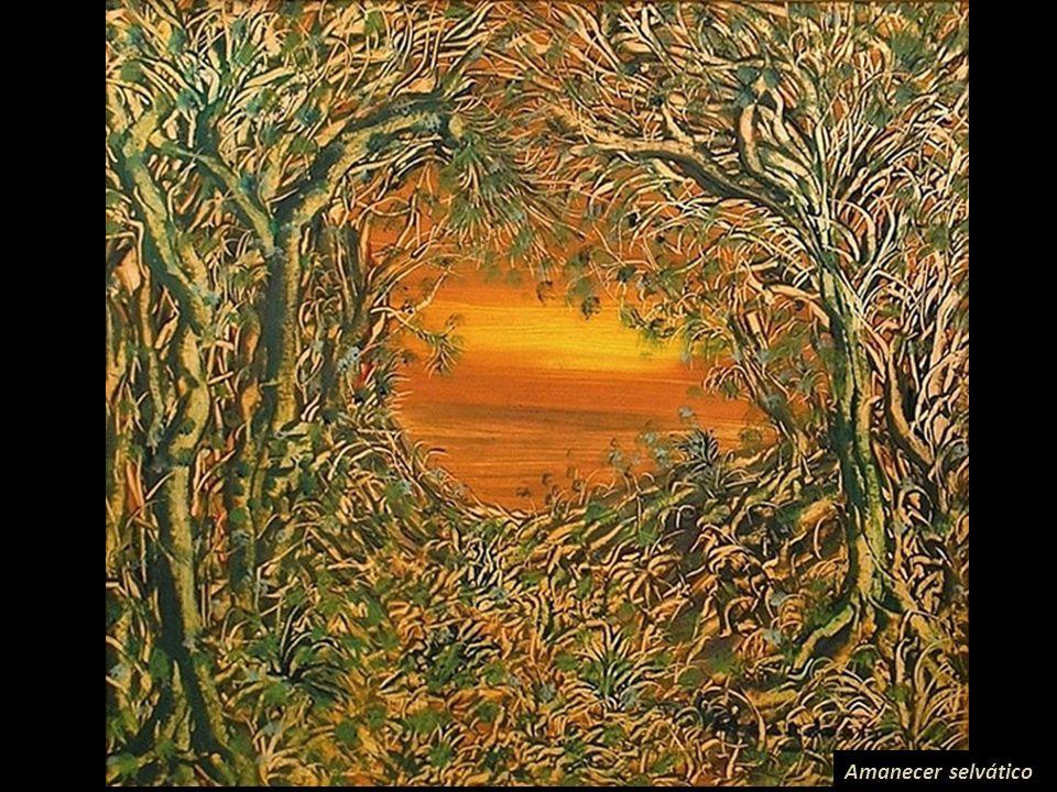 El bosque Imagen cortesía de: Carlos Ponce Ponte Macedonio es reconocido mundialmente por los paisajes de su serie Selvas, en ellas transmite visiones