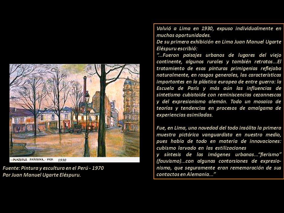 Fuente: Pintura y escultura en el Perú - 1970 Por Juan Manuel Ugarte Eléspuru.