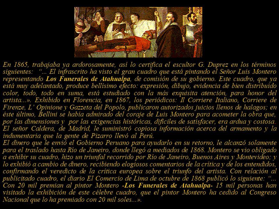 En 1861 viajó nuevamente a Italia esta vez con el auspicio del comerciante Don Mariano Miguel de Ugarte, tacneño y hombre muy rico que lo protege. Al