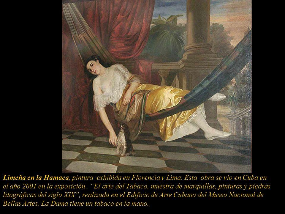 En 1860 se presenta, como invitado, en la Primera Exposición Colectiva de Lima organizada por el maestro Leonardo Barbieri, la que se vio entre el 7 y