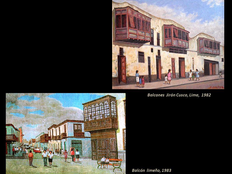 Casona del Marqués de Negreiros, Lima 1980 Balcones, Jirón Virú-Rímac, Lima, 1980