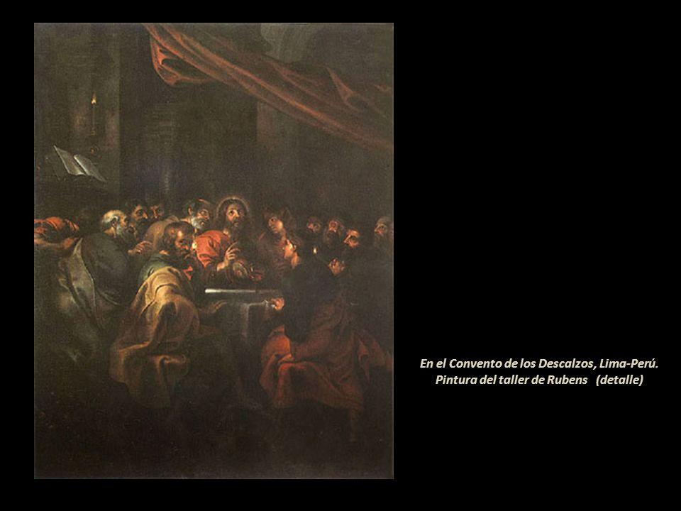En el Monasterio de Santa Rosa de Santa María, Lima-Perú. Pintura anónima del siglo XVII (detalle)