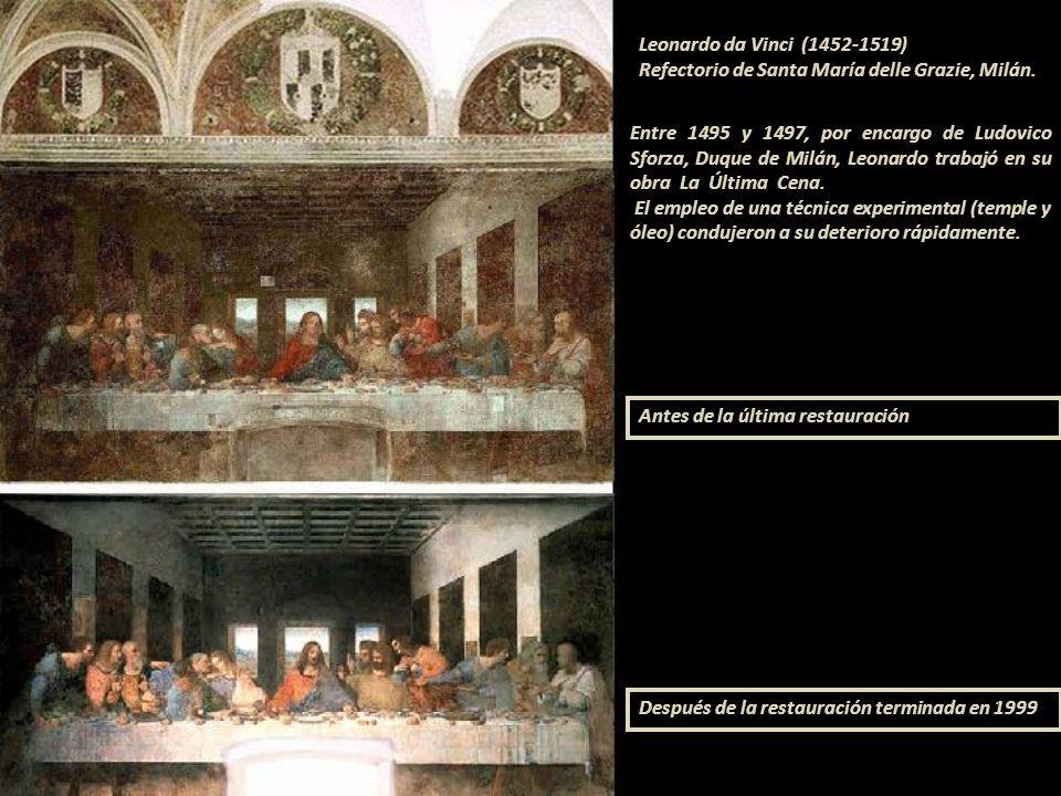 Refectorio del Convento de Todos los Santos, Florencia, 1480 Domenico Ghirlandaio (1449-1494) nombre de famila D. Bigordi o D. Curradi. Cenáculo de Sa