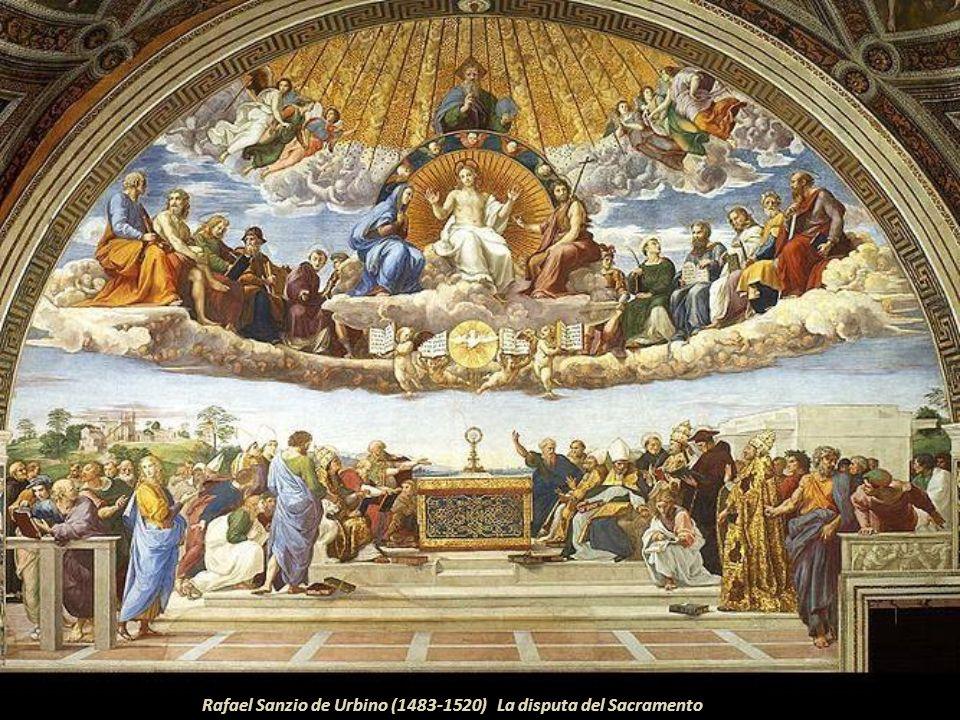 Este lienzo de 7.70 x 2.98; es propiedad de Royal Academy of Arts de Londres, la misma que está en calidad de préstamo en el Magdalen College de Oxfor