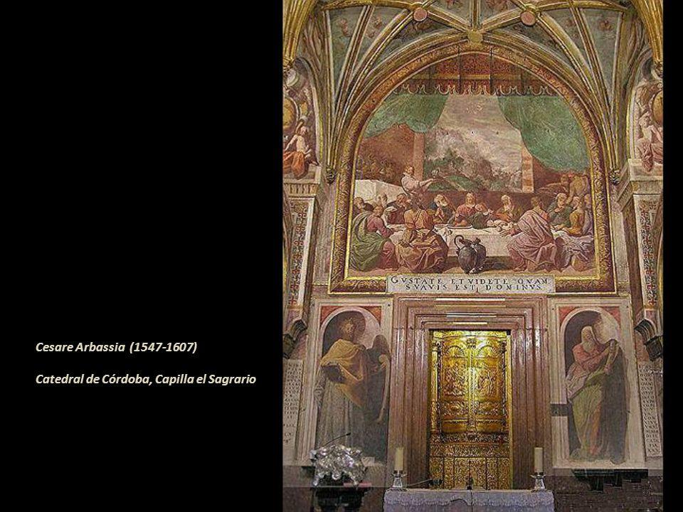 En la aureola o nimbo todos llevan su nombre, Judas lo tiene en el asiento. Con tan solo clicar aparecerán los nombres de todos y cada uno de ellos. J