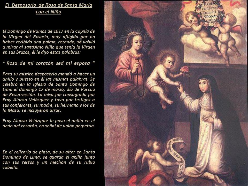 Sólo existen estas pinturas del verdadero rostro de Rosa de Santa María. Angelino Medoro, la conoció y trató personalmente.