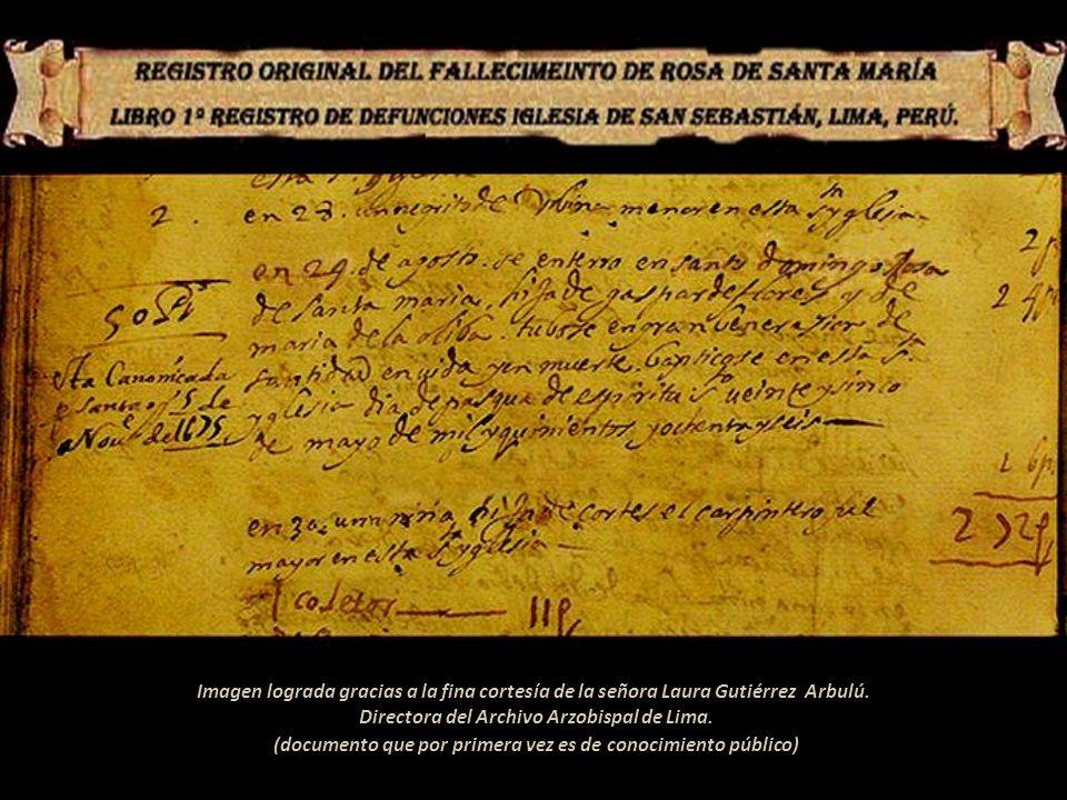 Entierro de Rosa de Santa María, Escuela Cusqueña, óleo anónimo siglo XVIII En el Monasterio de Santa Rosa de las Monjas, Lima. El Virrey del Perú, Pr
