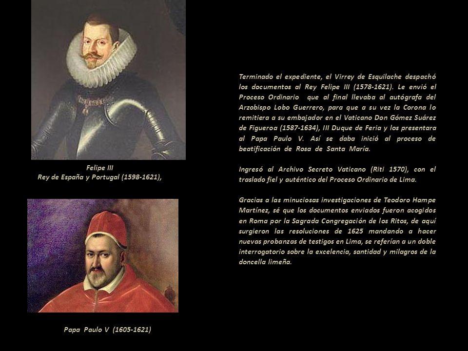 Tras el doloroso fallecimiento de Rosa de Santa María, el virrey dispuso unas honras magníficas para su tránsito. El virrey era descendiente del Papa