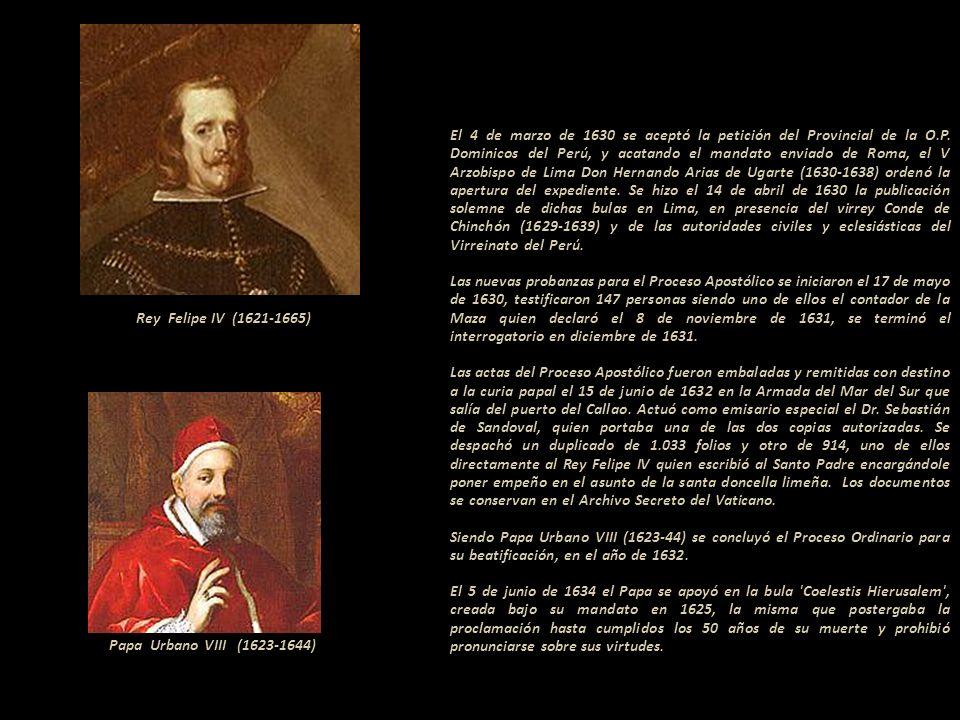 Terminado el expediente, el Virrey de Esquilache despachó los documentos al Rey Felipe III (1578-1621). Le envió el Proceso Ordinario que al final lle