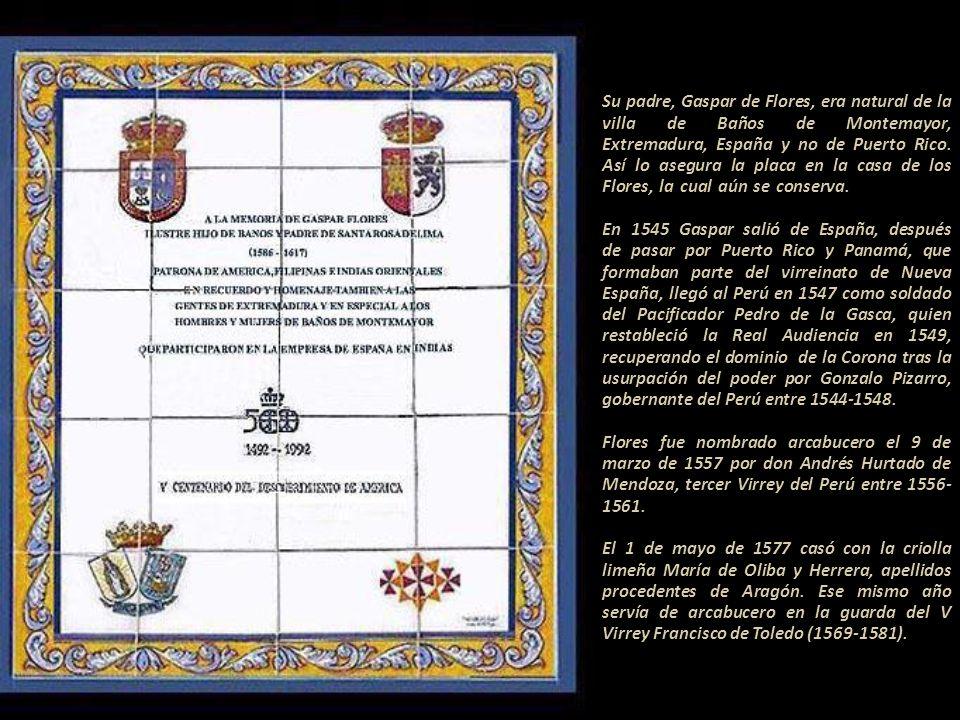La tercera pregunta del Proceso se refiere sobre la imposición del nombre de Rosa de Santa María.------------------------------------------------------ Fray Luis de Bilbao, uno de sus confesores, respondió el 14 de febrero de 1618...