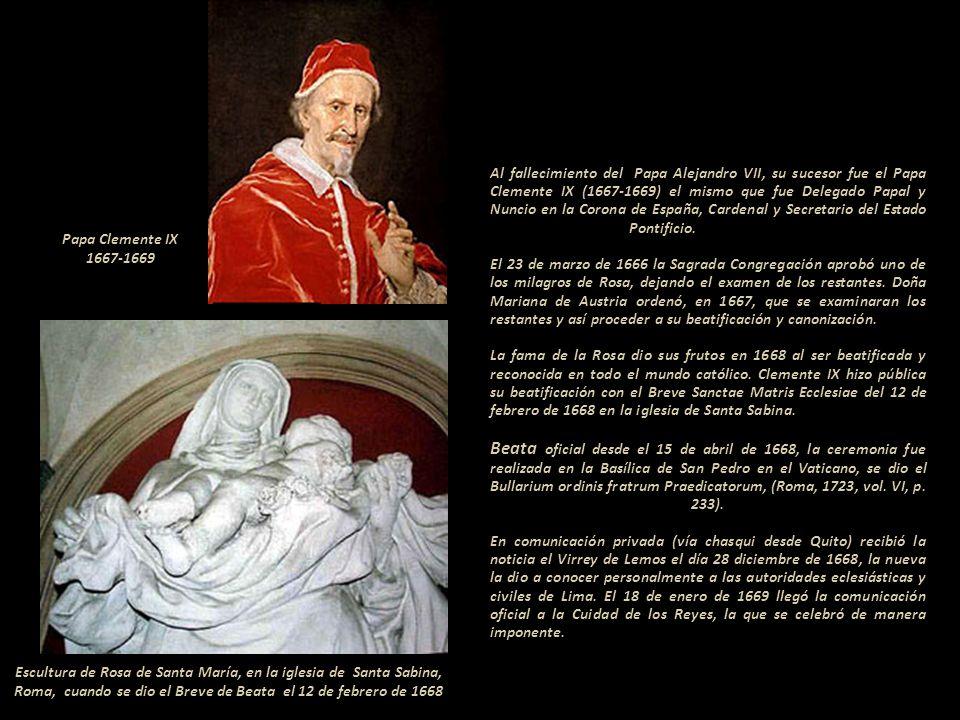 Entre 1655 y 1667 era Papa Alejandro VII, sobrino del Papa Pablo V, y candidato preferido de España para el cónclave que lo eligió. ------------------